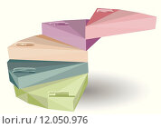 Купить «step. element for infographic as stairs in pastels color», иллюстрация № 12050976 (c) PantherMedia / Фотобанк Лори
