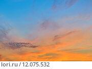 Купить «Романтичный небесный пейзаж», фото № 12075532, снято 16 июля 2015 г. (c) Сергей Трофименко / Фотобанк Лори