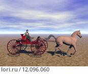Купить «horse coach horsepower einsp nner», фото № 12096060, снято 16 декабря 2017 г. (c) PantherMedia / Фотобанк Лори
