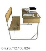 Купить «School Desk», фото № 12100824, снято 27 мая 2019 г. (c) PantherMedia / Фотобанк Лори