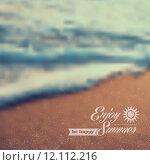 Купить «Summer beach vintage blurred background», иллюстрация № 12112216 (c) PantherMedia / Фотобанк Лори