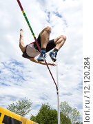 Купить «man spring athlete jump jumping», фото № 12120284, снято 19 февраля 2019 г. (c) PantherMedia / Фотобанк Лори