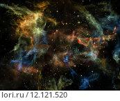 Купить «Universe Background», фото № 12121520, снято 27 июня 2019 г. (c) PantherMedia / Фотобанк Лори