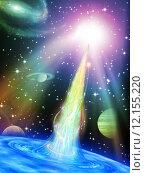 Купить «Abstract space vortex fantasy», фото № 12155220, снято 27 июня 2019 г. (c) PantherMedia / Фотобанк Лори
