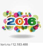 Купить «Abstract Background - Happy New Year 2016», иллюстрация № 12183488 (c) PantherMedia / Фотобанк Лори