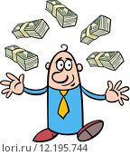 Купить «happy rich businessman cartoon», иллюстрация № 12195744 (c) PantherMedia / Фотобанк Лори
