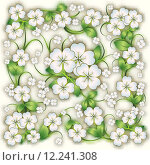 Купить «abstract floral background with spring ornament», иллюстрация № 12241308 (c) PantherMedia / Фотобанк Лори