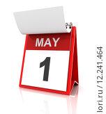 Купить «First of May calendar», фото № 12241464, снято 22 мая 2018 г. (c) PantherMedia / Фотобанк Лори
