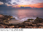 Купить «Rocky Beach in the Morning», фото № 12250640, снято 23 февраля 2019 г. (c) PantherMedia / Фотобанк Лори
