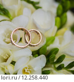 Купить «Two wedding rings in infinity sign. Love concept.», фото № 12258440, снято 22 апреля 2018 г. (c) PantherMedia / Фотобанк Лори