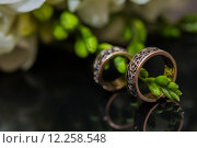 Купить «Two wedding rings in infinity sign. Love concept.», фото № 12258548, снято 22 апреля 2018 г. (c) PantherMedia / Фотобанк Лори