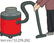 Купить «Worker Using Wet-Dry Vacuum», иллюстрация № 12276292 (c) PantherMedia / Фотобанк Лори