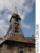Купить «church of Honfleur in Normandy», фото № 12286548, снято 20 сентября 2018 г. (c) PantherMedia / Фотобанк Лори