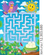 Купить «Maze 2 with bird theme», иллюстрация № 12303680 (c) PantherMedia / Фотобанк Лори