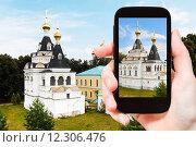 Купить «tourist photographs of Dmitrov Kremlin, Russia», фото № 12306476, снято 13 ноября 2019 г. (c) PantherMedia / Фотобанк Лори