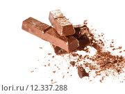 Купить «Abstract image of dark chocolate on white background», фото № 12337288, снято 18 июня 2019 г. (c) PantherMedia / Фотобанк Лори