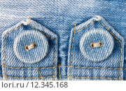 Купить «Jeans Button on Jeans Fabric Tag Horizontal View», фото № 12345168, снято 23 октября 2018 г. (c) PantherMedia / Фотобанк Лори