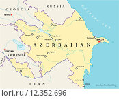Купить «Azerbaijan Political Map», иллюстрация № 12352696 (c) PantherMedia / Фотобанк Лори