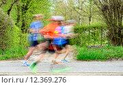 Купить «Runners  at marathon race», фото № 12369276, снято 18 декабря 2017 г. (c) PantherMedia / Фотобанк Лори
