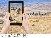Купить «photo of menhirs Zorats Karer monument in Armenia», фото № 12374864, снято 16 декабря 2018 г. (c) PantherMedia / Фотобанк Лори