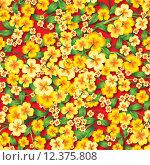 Купить «abstract seamless spring floral ornament», иллюстрация № 12375808 (c) PantherMedia / Фотобанк Лори