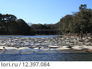 Купить «Isuzu river and Uji bridge in Ise, Japan», фото № 12397084, снято 22 июля 2019 г. (c) PantherMedia / Фотобанк Лори