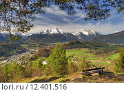 Купить «spring mountains alps bavaria alpenpanorama», фото № 12401516, снято 20 августа 2019 г. (c) PantherMedia / Фотобанк Лори