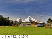 Купить «spring mountains alps bavaria alpenpanorama», фото № 12401540, снято 20 августа 2019 г. (c) PantherMedia / Фотобанк Лори