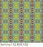 Купить «Abstract geometric background, seamless multicoloured checker pattern», иллюстрация № 12410132 (c) PantherMedia / Фотобанк Лори