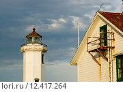 Купить «Point Wilson Lighthouse Puget Sound Fort Worden», фото № 12417264, снято 27 марта 2019 г. (c) PantherMedia / Фотобанк Лори