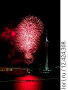 Купить «Celebration of New Year with fireworks», фото № 12424308, снято 26 июня 2019 г. (c) PantherMedia / Фотобанк Лори