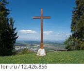 Купить «cross balinger berge bergkreuz dormettingen», фото № 12426856, снято 16 июля 2019 г. (c) PantherMedia / Фотобанк Лори