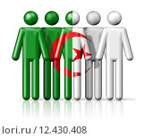 Купить «Flag of Algeria on stick figure», иллюстрация № 12430408 (c) PantherMedia / Фотобанк Лори