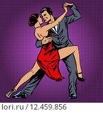 man and woman passionately dancing the tango pop art, фото № 12459856, снято 8 марта 2017 г. (c) PantherMedia / Фотобанк Лори