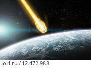 Купить «Meteorite impact on a planet in space», иллюстрация № 12472988 (c) PantherMedia / Фотобанк Лори