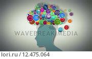 Купить «Thoughts appearing in cloud over head», видеоролик № 12475064, снято 20 июля 2019 г. (c) Wavebreak Media / Фотобанк Лори