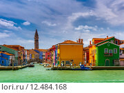 Купить «Colorful houses on the Burano, Venice, Italy», фото № 12484168, снято 23 февраля 2019 г. (c) PantherMedia / Фотобанк Лори