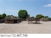 Купить «traditional african village with houses », фото № 12487740, снято 31 мая 2020 г. (c) PantherMedia / Фотобанк Лори
