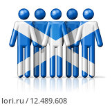Купить «Flag of Scotland on stick figure», иллюстрация № 12489608 (c) PantherMedia / Фотобанк Лори