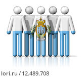 Купить «Flag of San Marino on stick figure», иллюстрация № 12489708 (c) PantherMedia / Фотобанк Лори