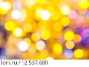Купить «yellow violet blurred shimmering Christmas lights», фото № 12537680, снято 17 ноября 2019 г. (c) PantherMedia / Фотобанк Лори