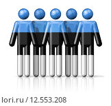 Купить «Flag of Estonia on stick figure», иллюстрация № 12553208 (c) PantherMedia / Фотобанк Лори