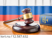 Купить «gavel and law book - russia», фото № 12587632, снято 7 августа 2018 г. (c) PantherMedia / Фотобанк Лори
