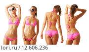 Купить «Sexy tan woman in bikini collection», фото № 12606236, снято 7 августа 2011 г. (c) Николай Охитин / Фотобанк Лори