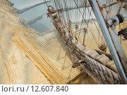 Купить «Ведра землечерпалки в песчаном карьере», фото № 12607840, снято 29 августа 2015 г. (c) Сосенушкин Дмитрий Александрович / Фотобанк Лори