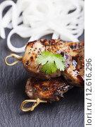 Купить «fillet skewer marinated pullet breast», фото № 12616296, снято 20 мая 2019 г. (c) PantherMedia / Фотобанк Лори