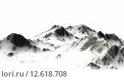 Купить «verschneite Berge - Berggipfel - auf weißem Hintergrund getrennt», фото № 12618708, снято 16 июля 2019 г. (c) PantherMedia / Фотобанк Лори
