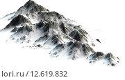 Купить «verschneite Berge - Berggipfel - auf weißem Hintergrund getrennt», фото № 12619832, снято 16 июля 2019 г. (c) PantherMedia / Фотобанк Лори