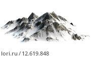Купить «verschneite Berge - Berggipfel - auf weißem Hintergrund getrennt», фото № 12619848, снято 16 июля 2019 г. (c) PantherMedia / Фотобанк Лори