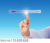 Купить «Index Finger Touching A Void Search Engine Tool», фото № 12629624, снято 24 августа 2019 г. (c) PantherMedia / Фотобанк Лори